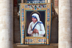 Painting of Mother Teresa of Calcutta Stock Photography