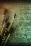 Painting and music arts background Royalty Free Stock Photos