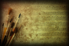 Painting and music arts texture Stock Photography