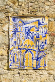 Painting. With muslim details exposed in a wall Royalty Free Stock Photography