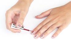 Painting nail Royalty Free Stock Image