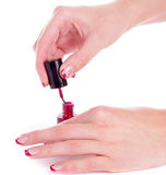 Painting nails Stock Images