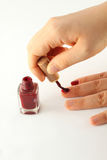 Painting nails. Stock Image