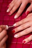 Painting nails Royalty Free Stock Images