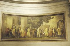 Painting in the National Archives, Washington, D.C. Royalty Free Stock Photo