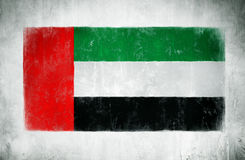 Painting Of The National Flag Of Arab Emirates Stock Image
