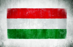 Painting Of The National Flag Of Hungary Royalty Free Stock Image