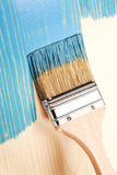 Painting natural wood in blue Royalty Free Stock Photography