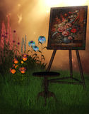 Painting in nature Royalty Free Stock Image