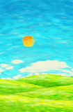Painting of nature in spring and summer Royalty Free Stock Image