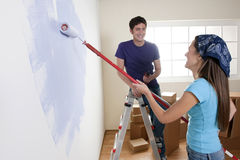 Painting the New Home Stock Photography
