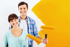 Painting new home Stock Photography