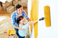 Painting new home Royalty Free Stock Image