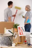Painting new house Royalty Free Stock Photography