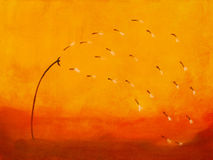 Free Painting Of A Dandelion Royalty Free Stock Photo - 2823665