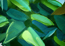 Painting by oil on a canvas, leaves,  illustration Royalty Free Stock Photos