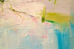 Painting with oils on canvas for the background of a major stroke. Royalty Free Stock Photography
