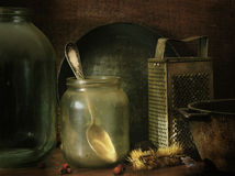 Painting of old things. Still-life from old subjects stock photo