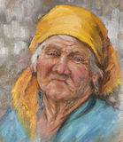 Painting of a old woman Royalty Free Stock Photos