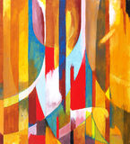 A painting - Orange Sided. An abstract painting, predominant color orange Stock Images