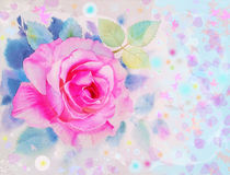 Painting original abstract colorful of roses flower and emotion Royalty Free Stock Photography
