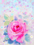 Painting original abstract colorful of roses flower and emotion Stock Photos