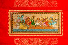 Painting of Orissa. Pattachitra of Raghurajpur, a small village of Orissa,India Stock Photo