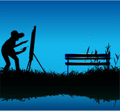 Painting outdoors Royalty Free Stock Photos