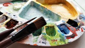 Painting, Palette royalty free stock images