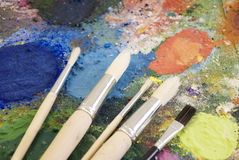 Painting palette Royalty Free Stock Image