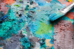 Painting Palette Stock Image