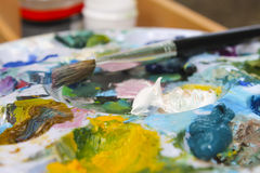 Painting palette Royalty Free Stock Photography