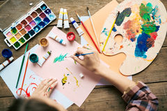Painting on paper Stock Photos