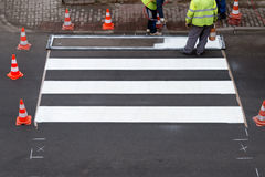 Painting of pedestrian crossing Royalty Free Stock Photo