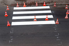 Painting of pedestrian crossing Stock Photography