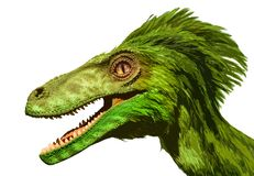 Painting photo portrait of green dragon. royalty free stock photos