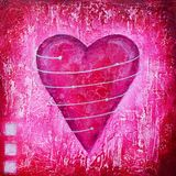 Painting of pink heart Royalty Free Stock Photo