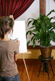 Painting a plant Royalty Free Stock Photos