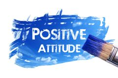 Painting positive attitude word vector illustration
