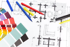 Painting project Royalty Free Stock Photo