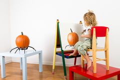 Painting Pumpkin Impressionist Stock Photography