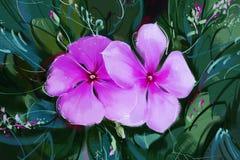 Painting Purple flowers Royalty Free Stock Image