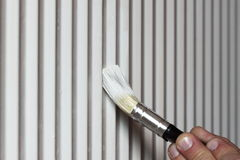 Painting radiator A Royalty Free Stock Photos