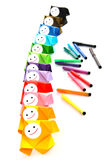 Painting and rainbow color metaphor Stock Image
