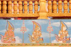Painting of Ramayana Story Wallpaper Royalty Free Stock Images