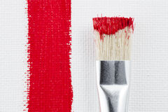 Painting with Red Stock Photography