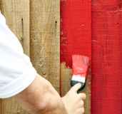 Painting red Stock Photography