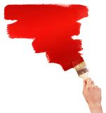Painting red shape Royalty Free Stock Photography