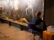 Painting Art Restoration stock image