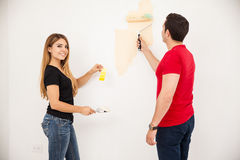 Painting with the right color Stock Images